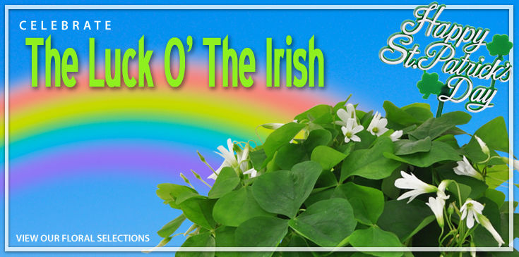 River Dell Flowers would like to help spread some good luck around. Send someone you know a little green today!