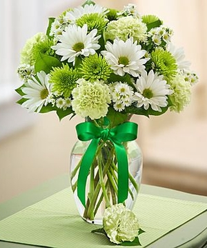 Mixed green and white