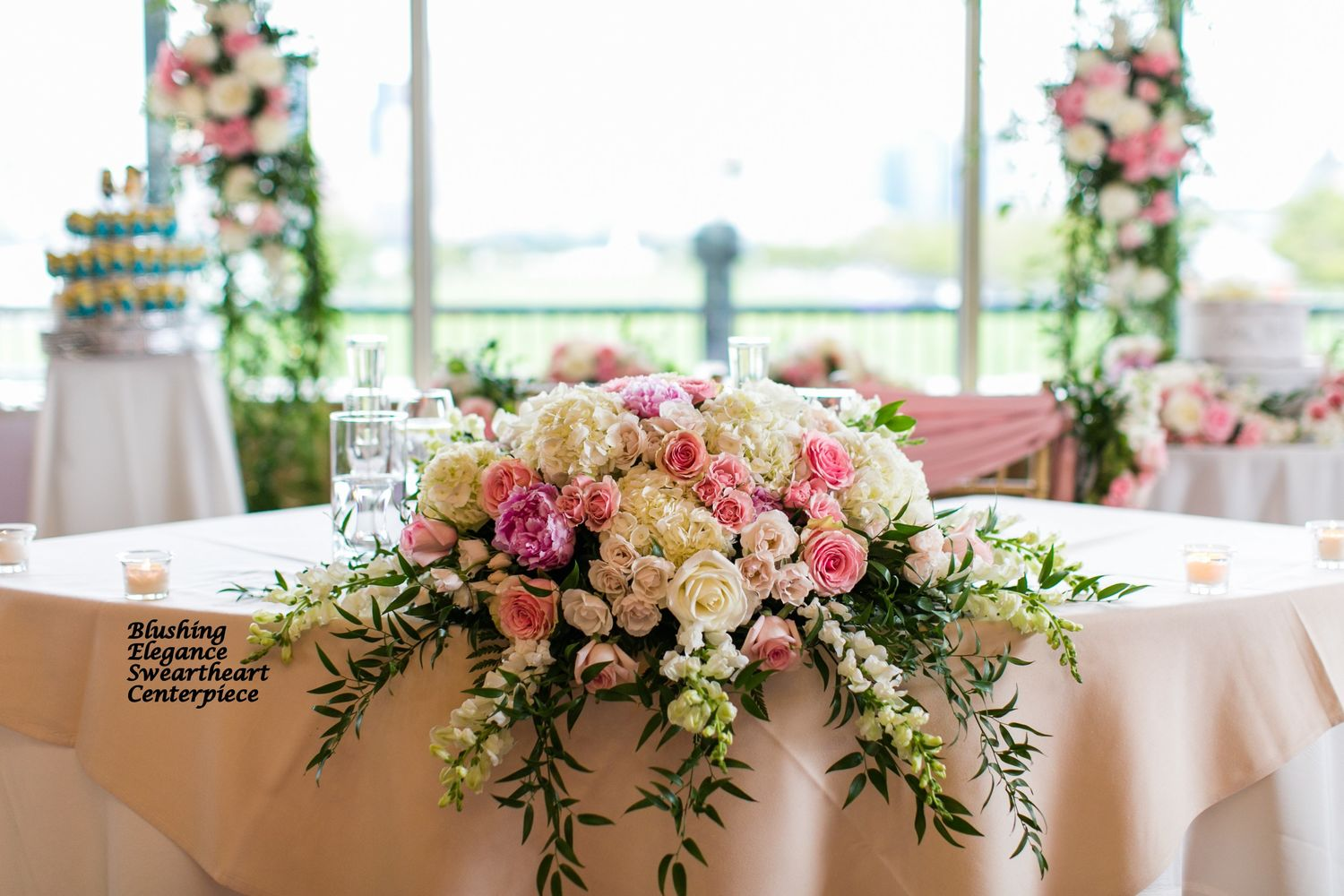 Reception Sweetheart Card Table Flowers