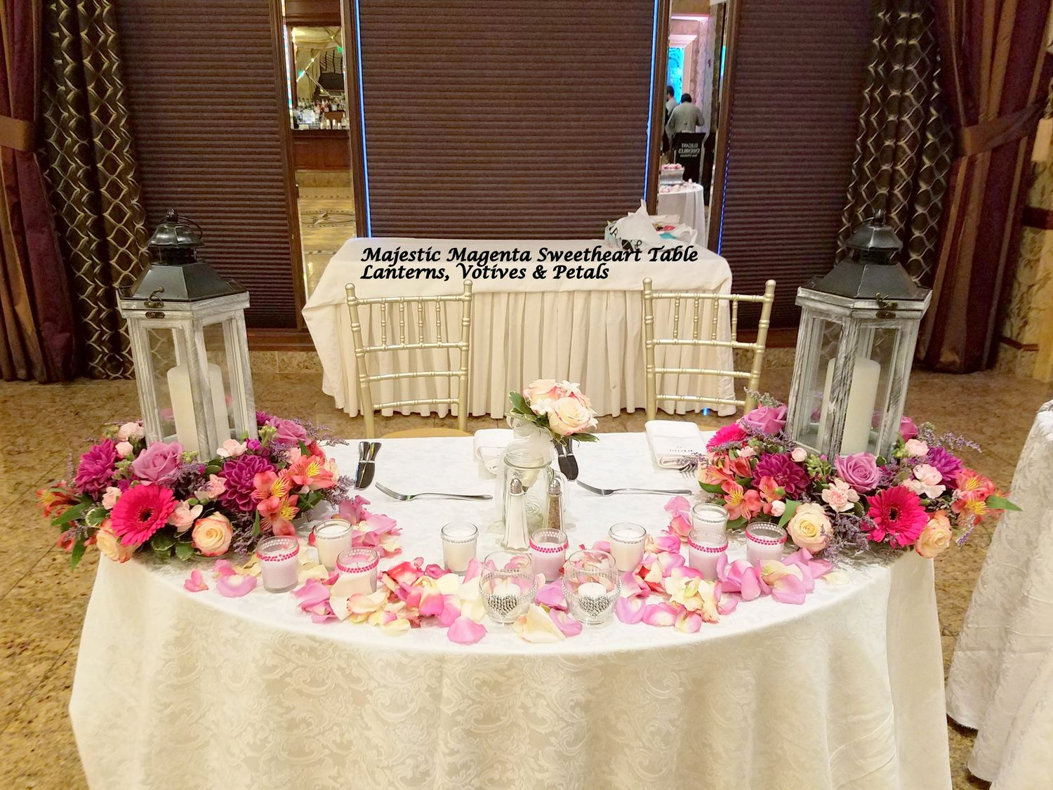 Reception Sweetheart Amp Card Table Flowers