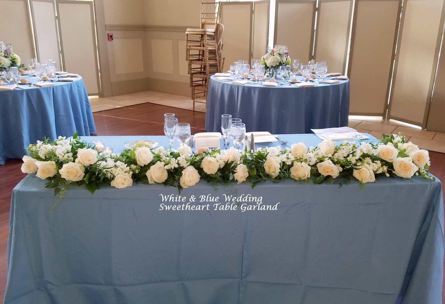 Down The Aisle Head Table Or Sweetheart Table: Reception: Sweetheart & Card Table Flowers